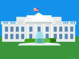 Illustration of the White House  Washington DC  United States of America