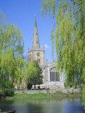 Holy Trinity Church from the River Avon  Stratford-Upon-Avon  Warwickshire  England  UK  Europe