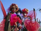 People Wearing Masked Carnival Costumes  Venice Carnival  Venice  Veneto  Italy