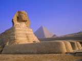 The Sphinx and Pyramid of Cheops at Sunrise  Giza  Cairo  Egypt