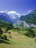 View Over Lauterbrunnen from Wengen  Bernese Oberland  Swiss Alps  Switzerland  Europe