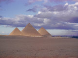 Pyramid of Menkewre (Left)  Pyramid of Chephren (Centre)  Pyramid of Cheops (Right)  Giza  Egypt