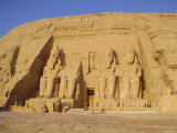 Rock Cut Temple of Ramesses II (Rameses the Great) (Ramses the Great)  Abu Simbel  Nubia  Egypt