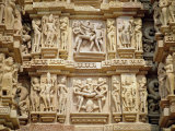 Erotic Sculptures on the West Side  Madhya Pradesh State  India
