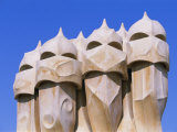 Gaudi Architecture  Casa Mila  La Pedrera House  Catalunya (Catalonia) (Cataluna)  Spain