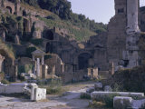 Ruins of Pompeii  Destroyed in Volcanic Eruption of Ad 79  Pompeii  Campania  Italy
