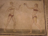 Mosaic 'Girls in Bikinis' (Doing Gymnastics) 4th Century Ad  Villa Romana Del Casale  Sicily  Italy