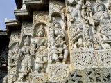 Close-Up of Carved Figures  Hoysaleshvara Temple  Halebid  Near Hassan  India