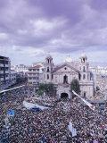 Crowds of Pilgrims and Devotees  Black Nazarene Festival  Downtown  Manila  Philippines