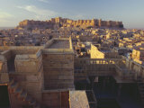 View of Jaisalmer Fort  Built in 1156 by Rawal Jaisal  Rajasthan  India