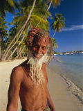 Portrait of a Rasta Man at Pigeon Point  Tobago  Trinidad and Tobago  West Indies  Caribbean