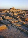 The Citadel with Buddhist Stupa 2nd Century Ad  Mohenjodaro  Pakistan