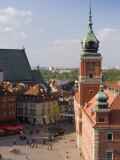 Elevated View Over Castle Square (Plac Zamkowy)  Warsaw  Poland