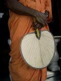 Buddhist Monk with Fan  Sri Lanka  Asia
