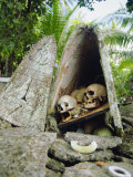 Skull Island  Village Stores Skulls of Chiefs and Enemies  Roviana Lagoon  Soloman Islands