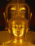 Twin Buddha Images  the Front is Phra Buddhachinnasi Over 600 Years Old  Thailand