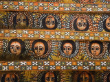 Painting of the Winged Heads of 80 Ethiopian Cherubs  Debre Berhan Selassie Church  Ethiopia