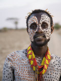 Portrait of a Karo Tribesman  Lower Omo Valley  Ethiopia