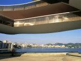 View of Niteroi  Museo De Arte Contemporanea  by Oscar Niemeyer  Rio De Janeiro  Brazil
