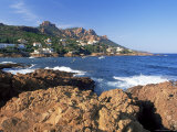 View Across Bay to the Village of Antheor  Provence  France