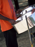 Steel Pan Drummer  Island of Tobago  West Indies  Caribbean  Central America