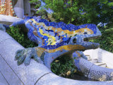Gaudi Architecture  Parc Guell  Unesco World Heritage Site  Catalunya (Catalonia) (Cataluna)  Spain