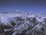 Aerial View of Himalaya Mountain Range  Rising Above Other Mountains  Pakistan