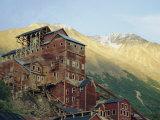 Old Copper Mine Buildings  Preserved National Historic Site  Kennecott  Alaska  USA