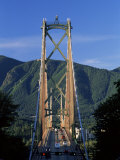 View Northwards Over the Lions Gate Bridge from Stanley Park  Vancouver  British Columbia  Canada