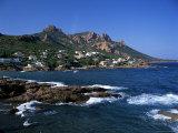 Across Bay to the Village and Pic Du Cap Roux  Antheor  Corniche De L'Esterel  Provence  France
