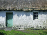 Typical Thatched Irish Cottage Near Glencolumbkille  County Donegal  Ulster  Republic of Ireland