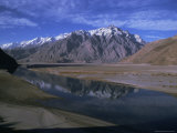 Indus River at Skardu Looking Downstream  Mount Marshakala  5150M  Baltistan  Pakistan