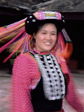 Blurred Motion Portrait of a Woman in Traditional Northern Thai Dress  Northern Thailand  Thailand