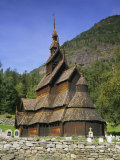 Borgund Stave Church  Western Fjords  Norway