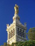Bell Tower of Basilica of Notre Dame De La Garde  Provence-Alpes-Cote-D'Azur  France