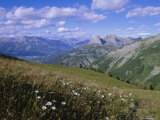 View from Col d'Allos  Parc National Du Mercantour  Near Barcellonette  Provence  France