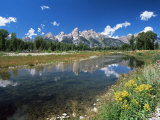 from Schwabacher's Landing Across the Snake River to the Teton Range  Grand Teton National Park