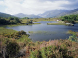 Upper Lake and Macgillycuddy&#39;s Reeks  Ring of Kerry  Killarney  Munster  Republic of Ireland (Eire)