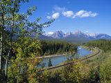 Morants Curve  Bow River  Bow Range  Rocky Mountains  Canada
