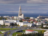 The 75M Tall Steeple and Vast Modernist Church of Hallgrimskirkja  Reykjavik  Iceland