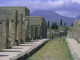 Restored Buildings in Roman Town Buried in Ad 79 by Ash Flows from Mount Vesuvius  Campania  Italy