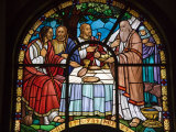 Stained Glass Window in Holy Trinity Cathedral  Addis Ababa  Ethiopia