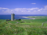 Doolin Tower  Doonagore Catle and South Sound  County Clare  Munster  Republic of Ireland