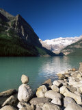 View to Mount Victoria Across the Emerald Waters of Lake Louise  Alberta  Canada