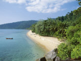 View Along the Coast  Nazri's Beach and Rainforest  Air Batang Bay  Pahang  Malaysia