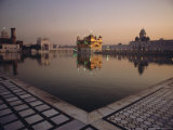 Dawn at the Golden Temple and Cloisters and the Holy Pool of Nectar  Punjab State  India