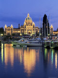 View Across the Inner Harbour to the Parliament Buildings  British Columbia (BC)  Canada