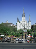 St Louis Christian Cathedral in Jackson Square  French Quarter  New Orleans  Louisiana  USA