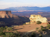 Island in the Sky  Clifftop Plateau Below Shafer Canyon Overlook at Sunset  Utah  USA