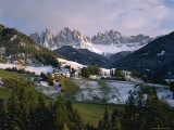 St Magdalena and Geisslerspitzen  3060M  Val De Funes  South Tirol (Tyrol)  Italy